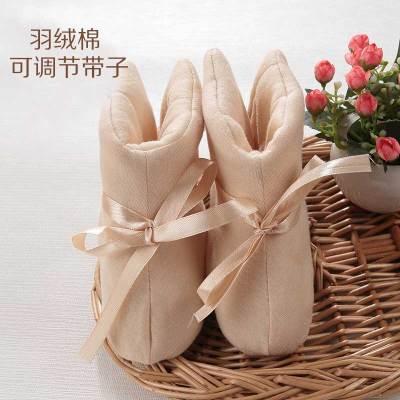 婴儿袜子婴儿脚套冬加厚保暖鞋子宝宝鞋套新生儿护脚套棉鞋春秋0-6-10个月