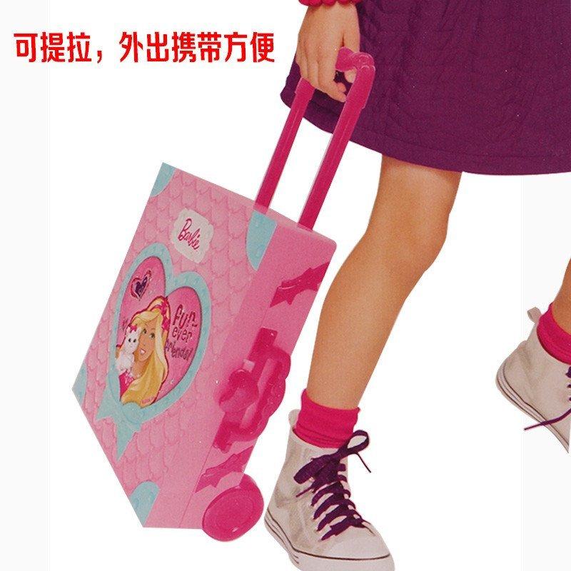 迪士尼儿童化妆品彩妆套装芭比小公主手提箱化妆箱儿童眼影唇彩胭脂