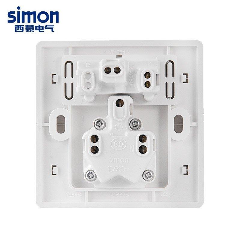 西蒙开关插座86型55雅白16a三孔带单控开关墙壁电源插座开关面板