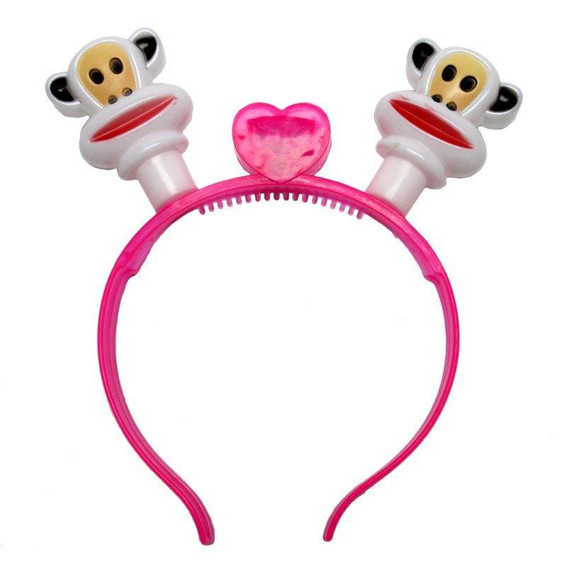 欢乐派对欢乐派对年会用品年会道具带灯猴子头饰发光猴子头箍发卡发箍