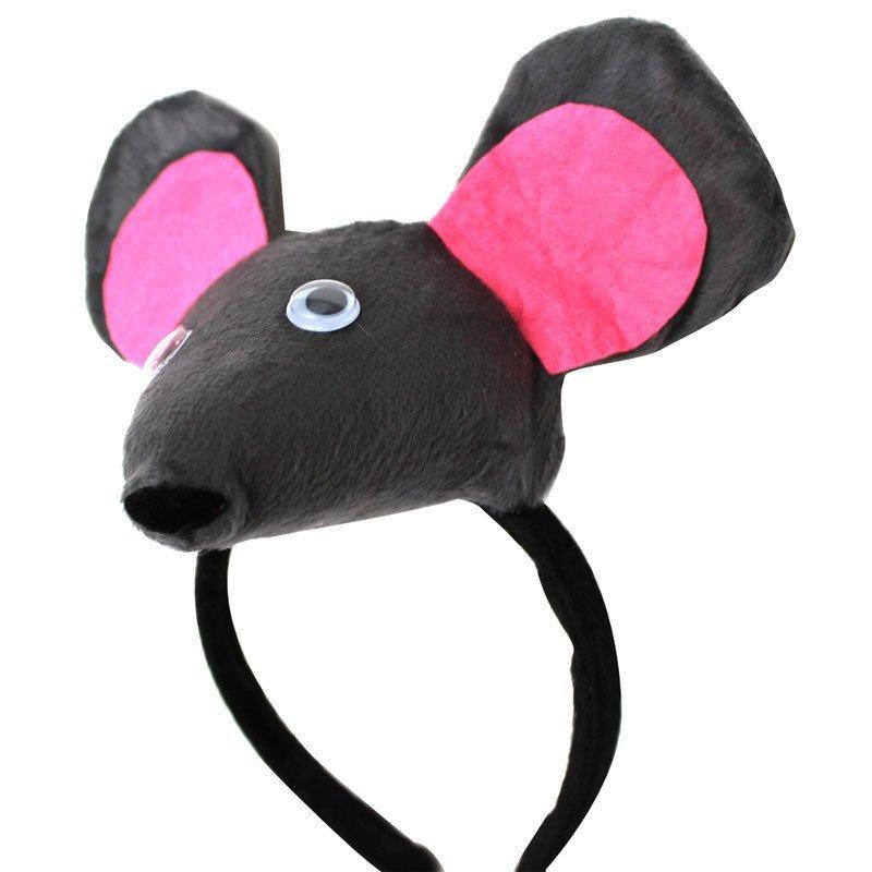 欢乐派对年会动物头饰道具儿童演出表演头饰立体小老鼠头饰头箍发箍