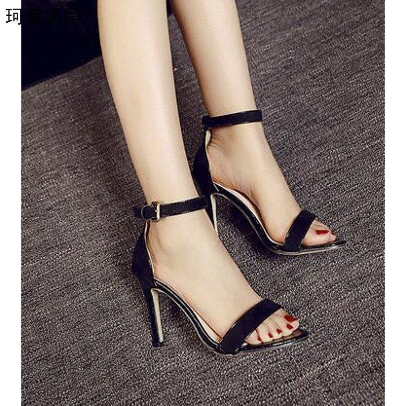 女生高跟鞋女生哪种好牌子同款凉鞋嘴舟覆图片