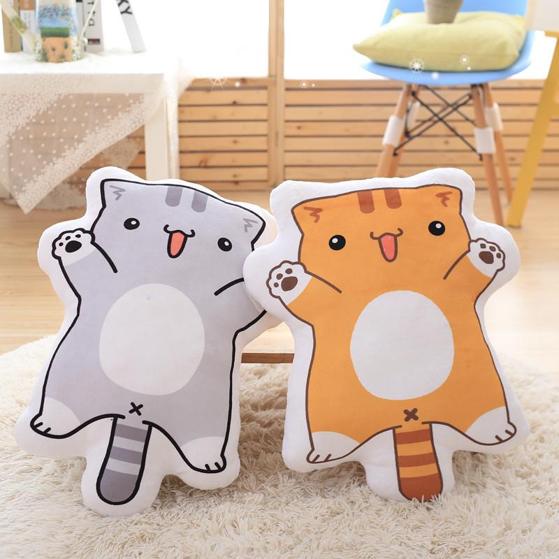 绒翼 卡通双面印花抱枕后院猫咪动漫展周边二次元毛绒