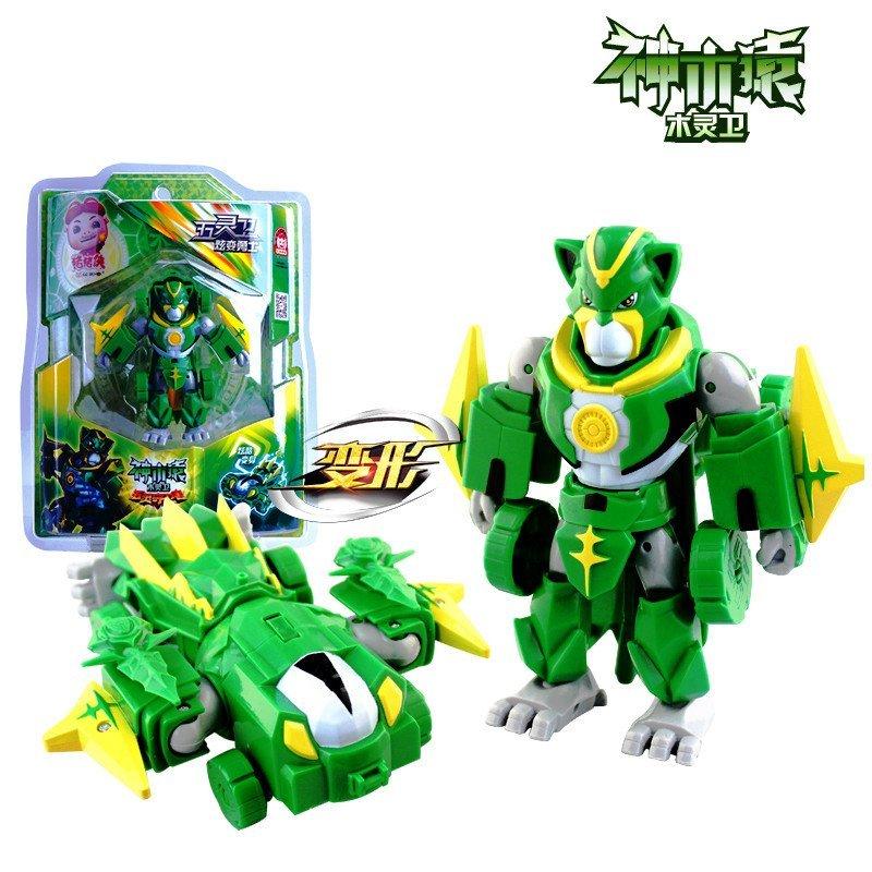 猪猪侠ys8919e五灵卫炫变勇士铁拳虎火焰鹤儿童变形机器人玩具男孩