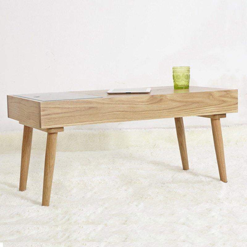 emvo北欧风格实木茶几原木白橡木日式家具风格客厅森.