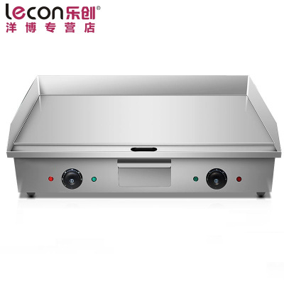 lecon/乐创洋博 商用电扒炉 820台湾手抓饼机器 铁板鱿鱼机器铜锣烧机铁板烧设备
