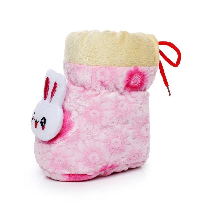 umiumi 0-2岁宝宝婴儿加绒保暖高筒棉鞋可爱卡通小兔图案