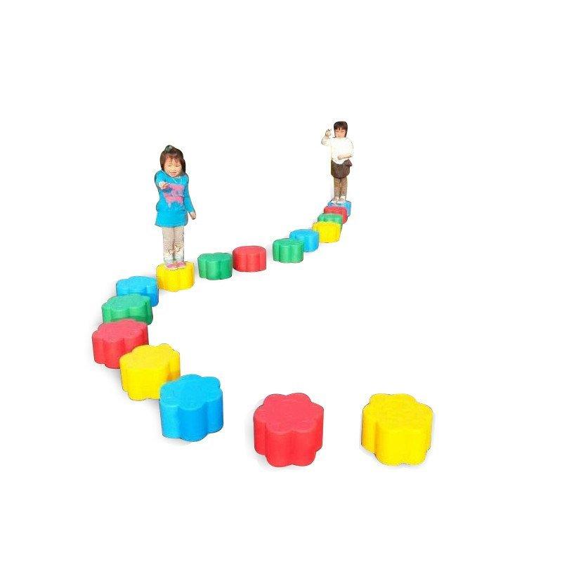 合嘉乐数字梅花墩 幼儿园感统训练器材幼儿亲子游戏玩具 塑料梅花桩走