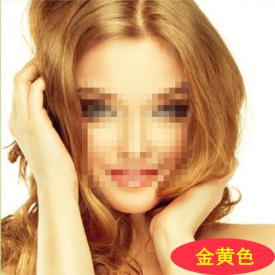 卓颜植物染发膏染发剂染发霜染膏盖白发染头发彩色焗油30ml*2金黄色