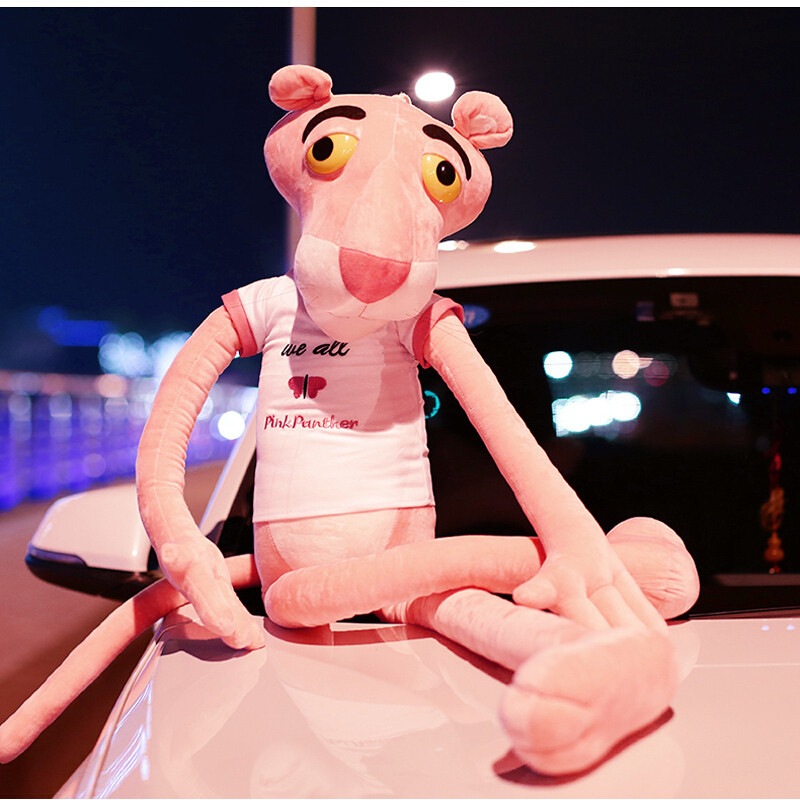 心向绒 可爱粉红豹公仔毛绒玩具顽皮豹布娃娃送女生玩偶大号生日情人