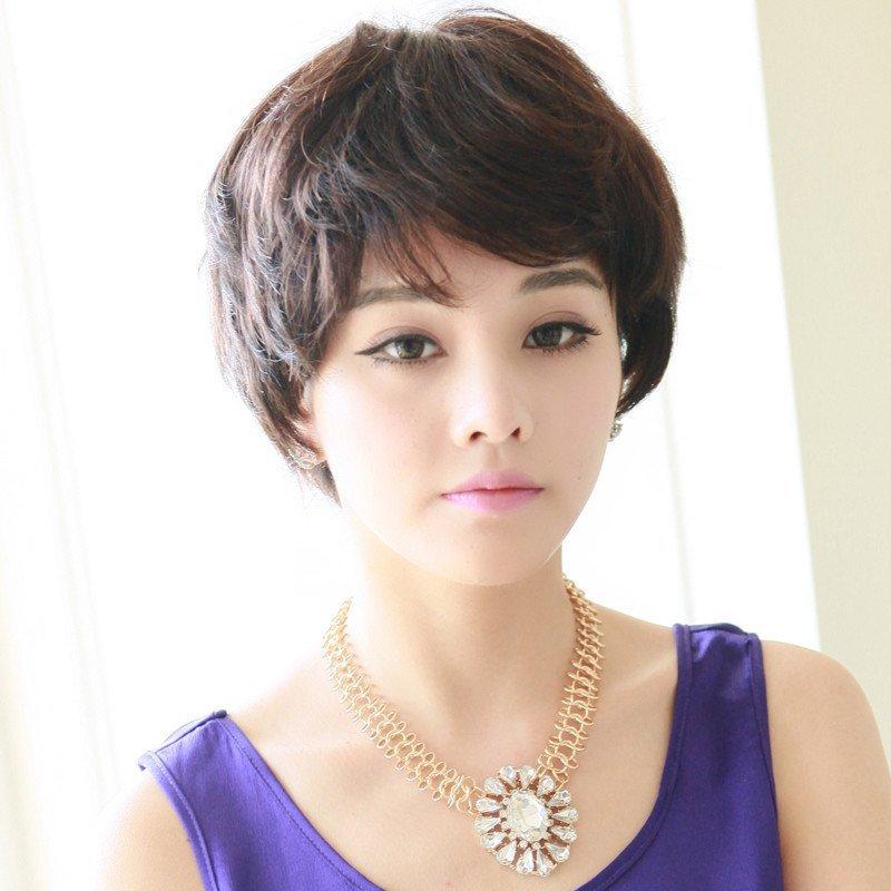 小苏妞假发 短发新款短卷发套时尚帅气圆脸女士jiafa 主持人发型 短发图片