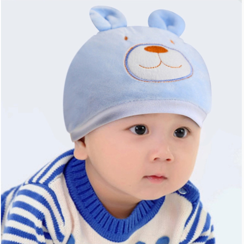 比多乐婴儿套头帽儿童帽子宝宝帽子纯棉男女宝宝帽子秋冬款