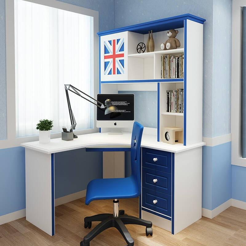 合诚p2环保标准儿童学习书桌写字台转角电脑桌书桌书架组合