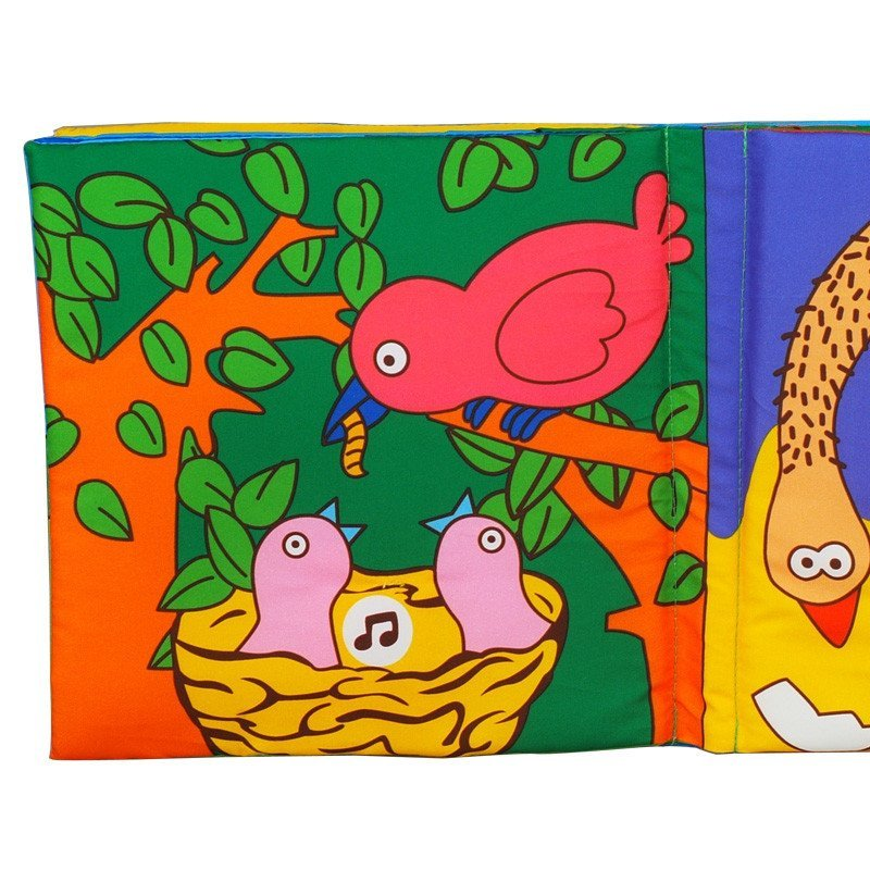 lalababy拉拉布书动物世界宝宝第一立体布书婴幼儿益智玩具0-1-3