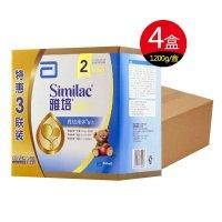 雅培亲体金装喜康力较大婴儿配方奶粉2段1200克g (400g*3联包)4盒整箱装