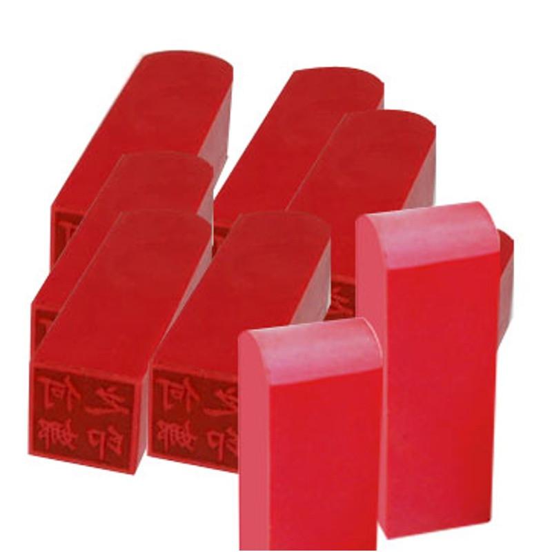 辽印坊胶皮定制红胶橡塑姓名章正方形可爱印章个性书法章字画章名字