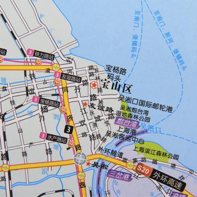 上海市装饰装仹cc�/&_上海市全图 挂图 上海市区郊区详图 办公室书房装饰地图1.