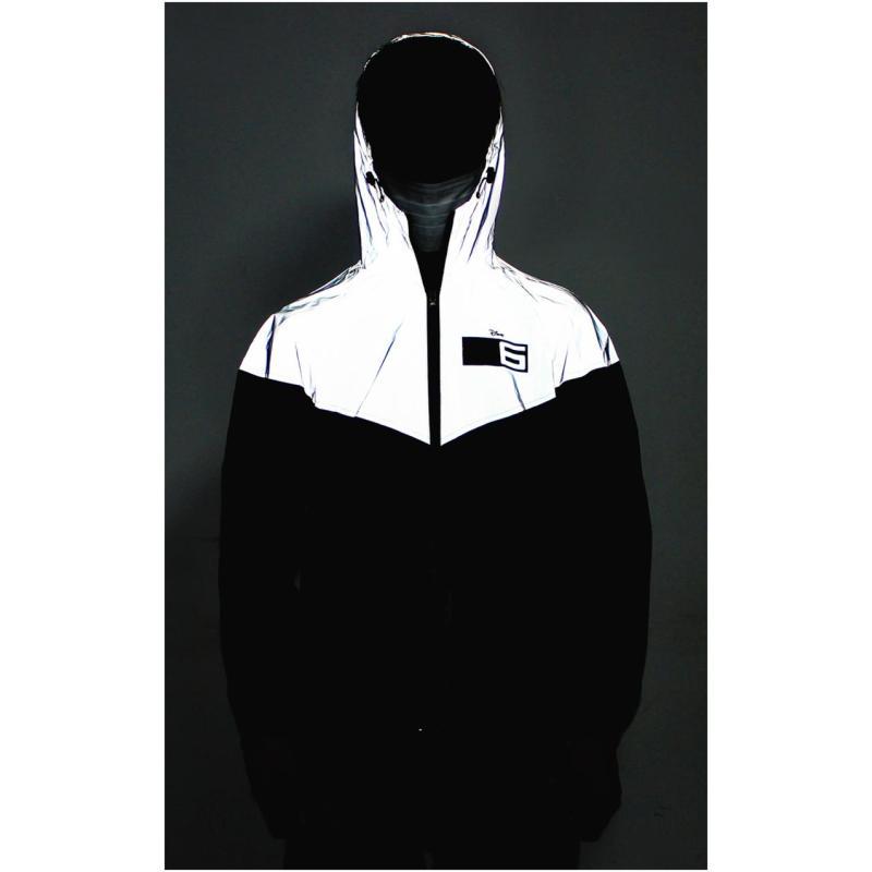 夹克外套男生卡通印花夹克衫青少年戴帽休闲衣服外穿韩版潮流薄款外套