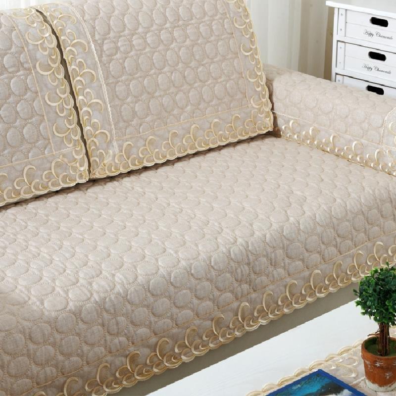 小艾家居 亚麻布艺防滑沙发垫子简约现代坐垫四季通用