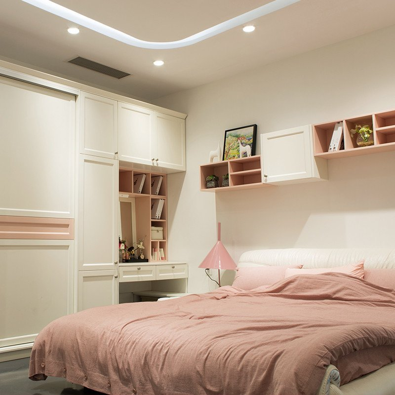 乐宜嘉 卧室整体定制 森卧室 烤漆衣柜床头柜梳妆台 功能多变设计多样图片