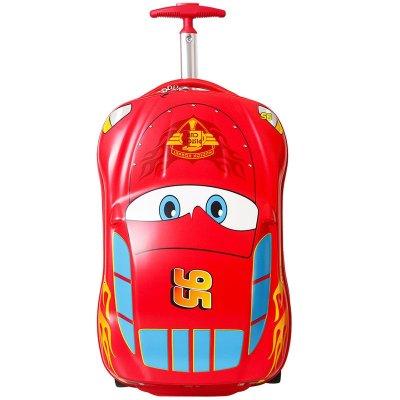 Disney迪士尼登机箱拉杆箱卡通汽车麦昆旅行箱儿童行李箱18寸小学生拉箱 RB0109A红色