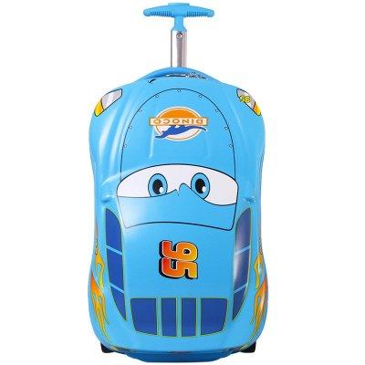 Disney迪士尼登机箱拉杆箱卡通汽车麦昆旅行箱儿童行李箱18寸小学生拉箱 RB0109B蓝色