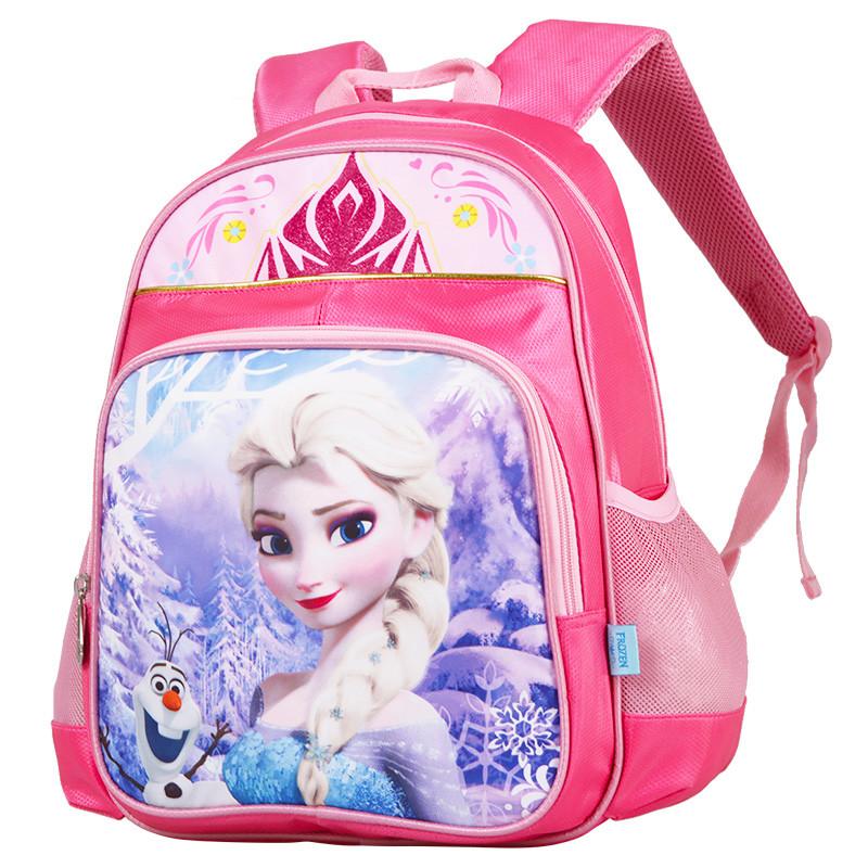 冰雪奇缘女童小学生1-3年级双肩卡通书包 fp8012a粉色送笔盒 xy文具