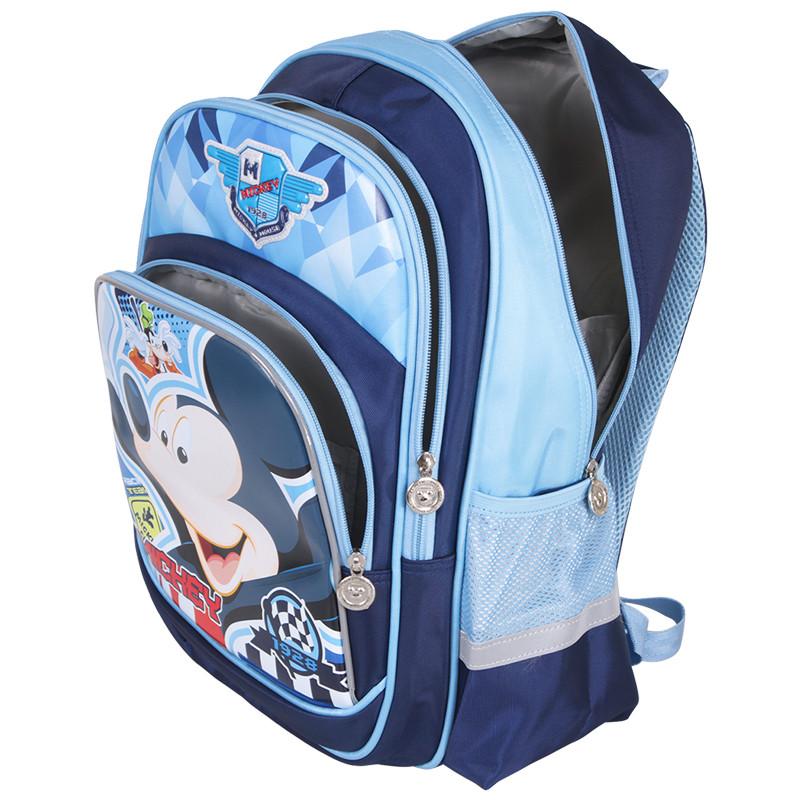 小学生书包1-4年级米奇男生双肩卡通书包 sm80885藏青送笔盒 xy文具