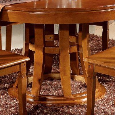 现代新古典中式餐桌 实木圆桌 圆形餐桌 现代小户型饭店酒店餐厅饭桌