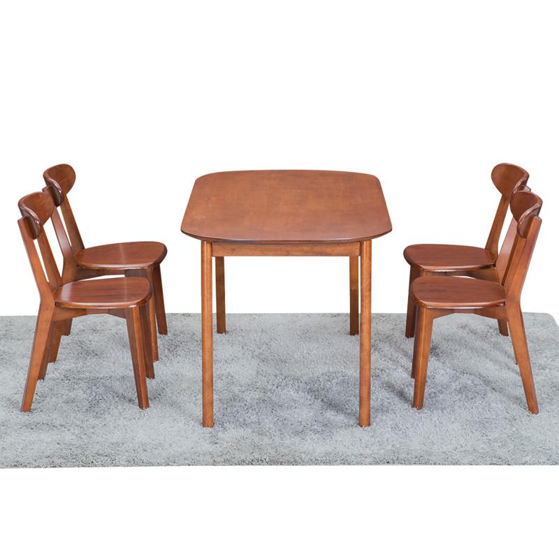 奥跃汇龙实木餐桌 日式餐台饭桌椅组合 日式简约橡木家具