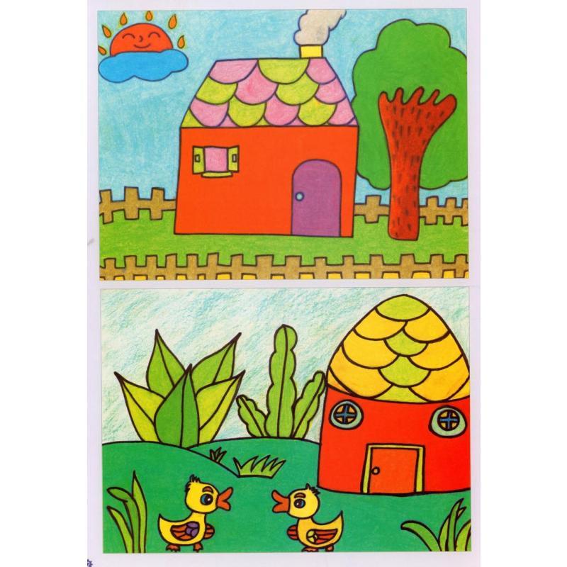 正版 名师教学幼少儿美术新起点教材未来小画家 蜡笔画起步 安徽美术