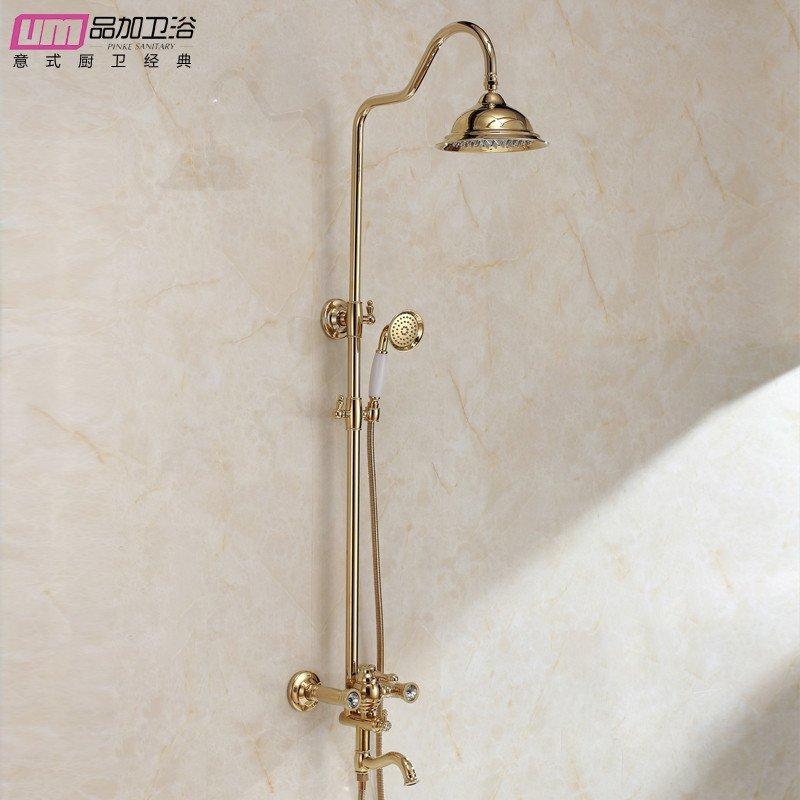 品加卫浴 欧式仿古全铜淋浴花洒套装 淋浴器淋雨喷头卫浴套装se03图片