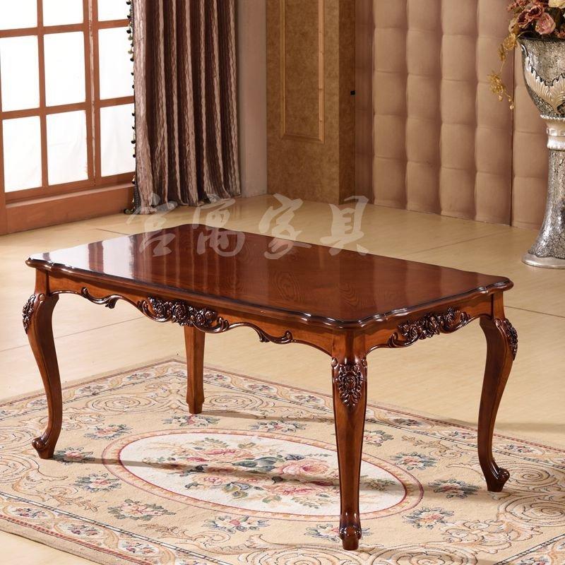 宫寓家具欧式实木餐桌 美式雕花长餐桌 餐厅吃饭桌子新古典餐桌 简约