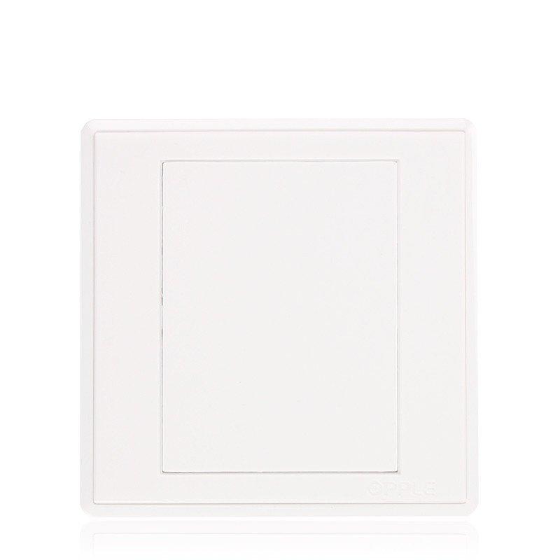 opple欧普照明 86型开关空白面板 墙壁开关插座面板 补孔面板图片