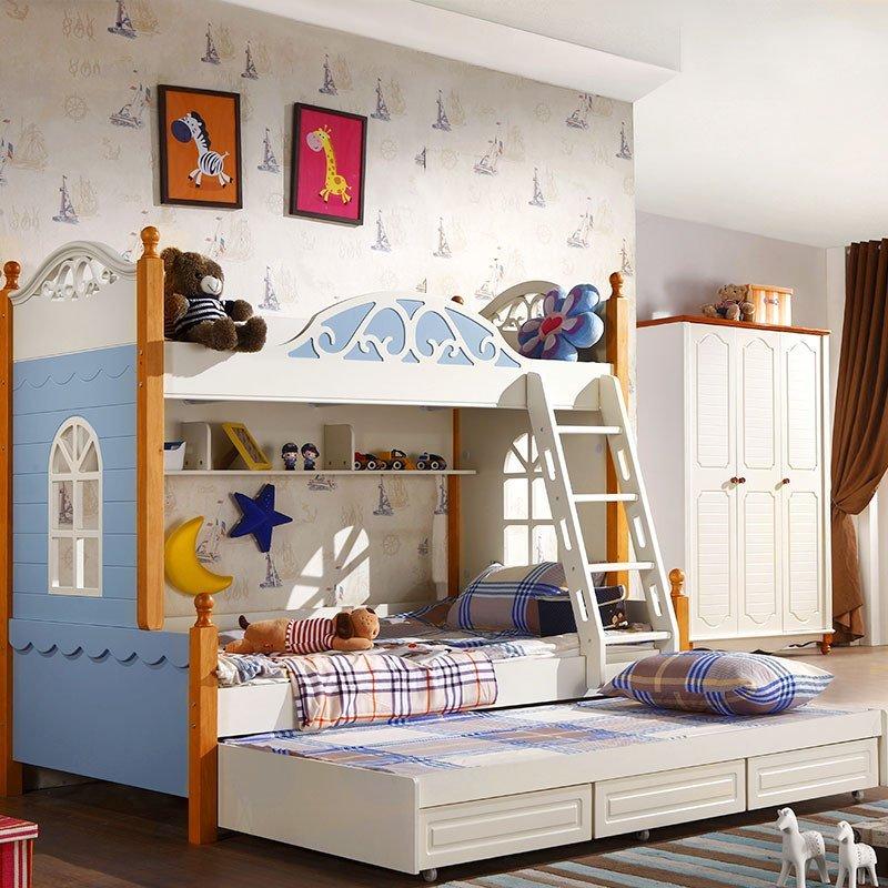 儿童床女孩男孩 儿童家具房高低床