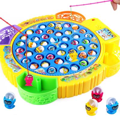 儿童电动钓鱼玩具小猫钓鱼音乐旋转捕鱼达人亲子互动钓鱼台多功能宝宝过家家游戏玩具送男孩女孩1-3-6岁礼物