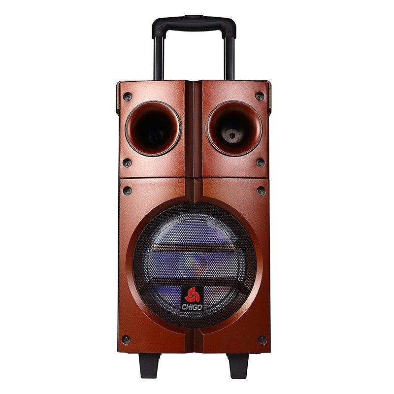 志高 户外 8寸大功率广场舞音响拉杆音箱移动电瓶音响
