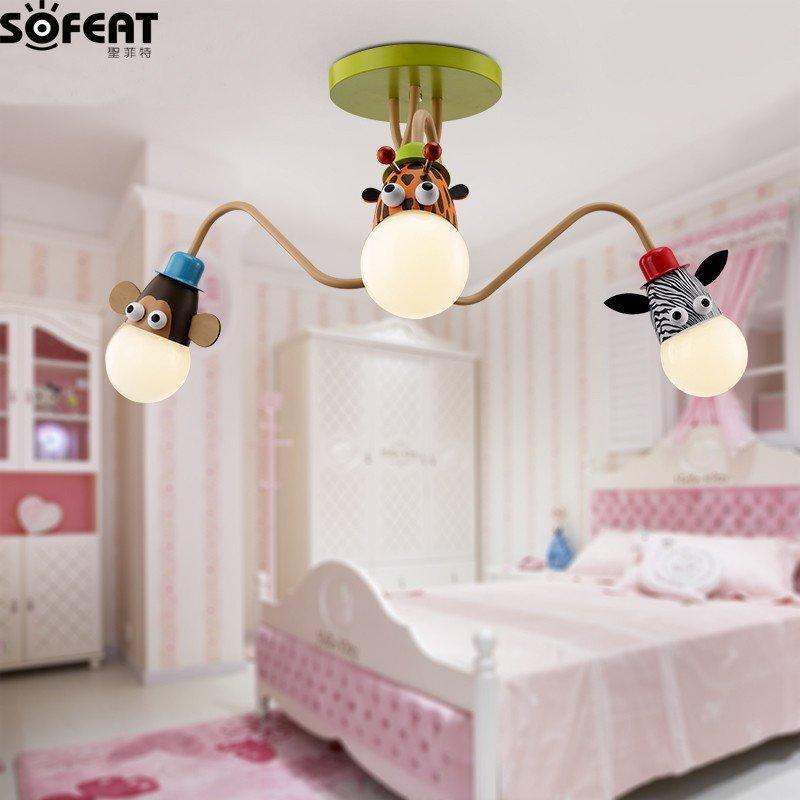 儿童房灯具创意卡通男孩卧室灯女孩房间led吸顶灯现代儿童灯吊灯
