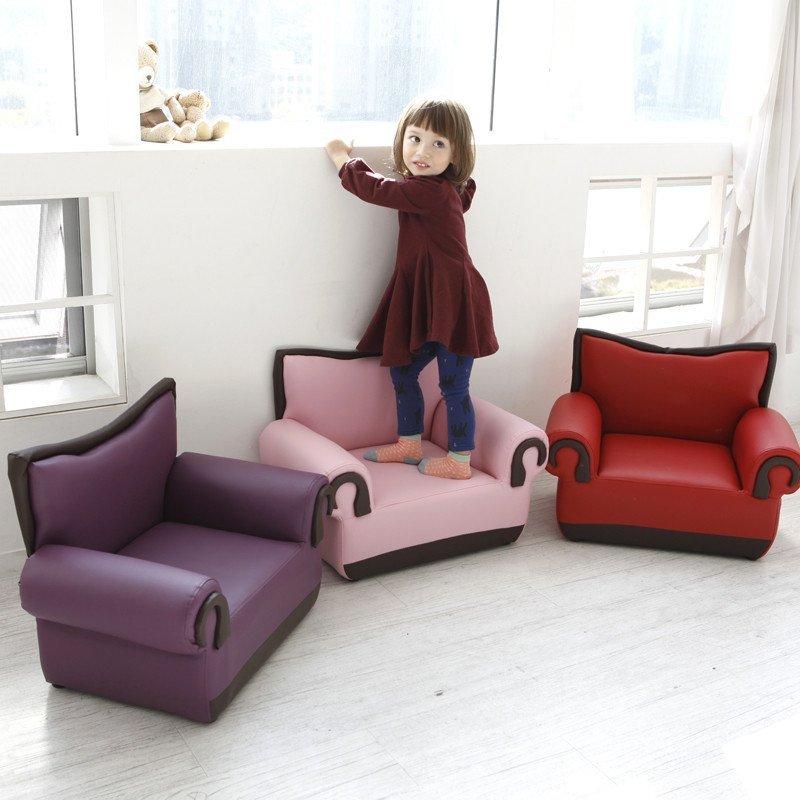 iizz韩国真品儿童沙发椅子韩式皮创意可爱单人沙发公主宝宝沙发