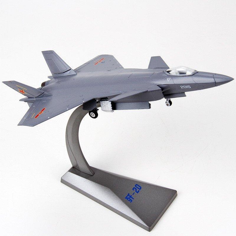 1:100歼20战斗机模型合金j20飞机模型仿真歼