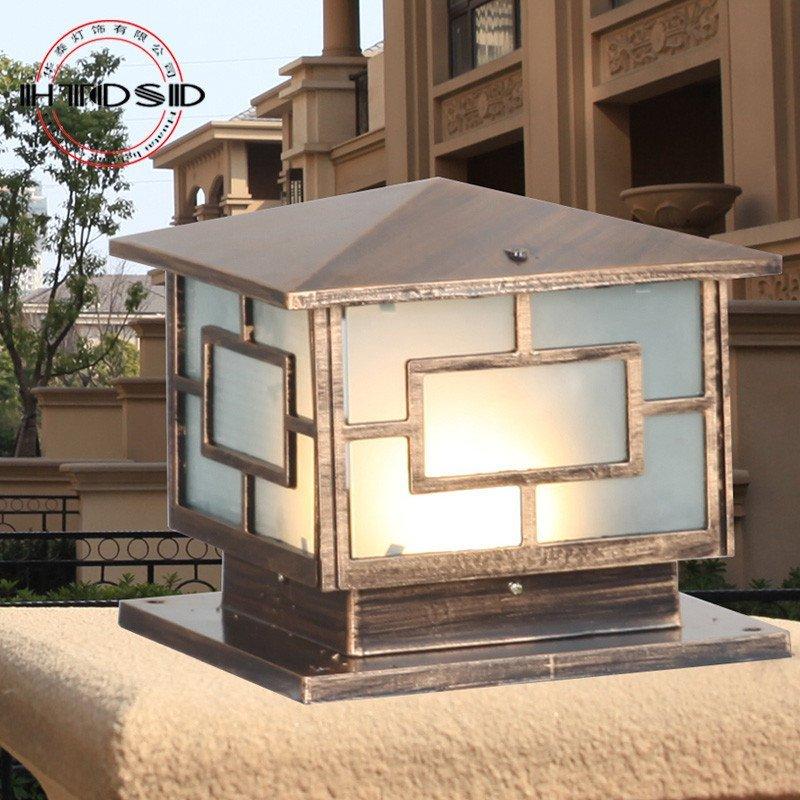 欧式柱头灯墙头灯围墙灯方形户外灯大门柱子庭院花园