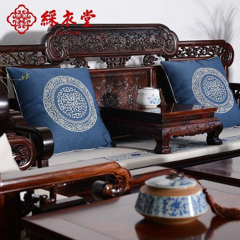中式红木沙发垫四季布艺防滑实木沙发坐垫