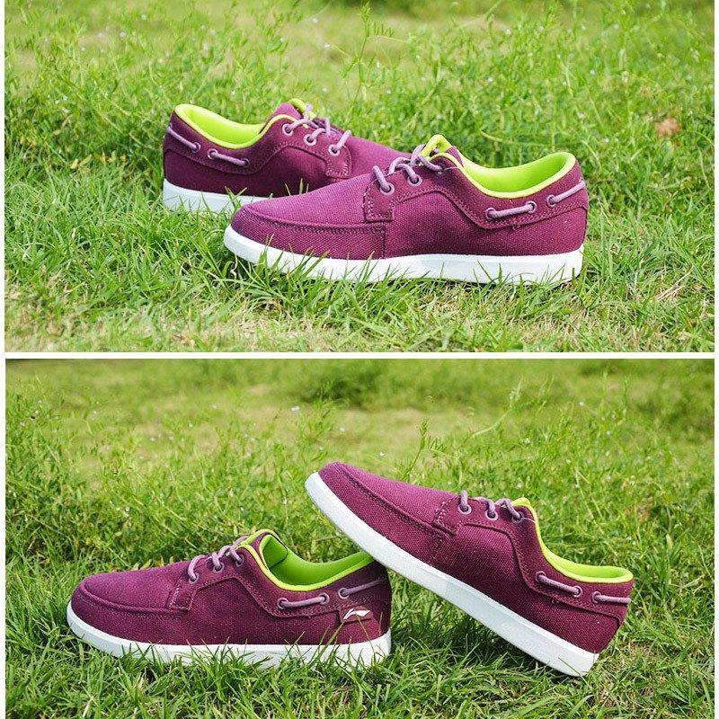 李宁lining女子紫色经典休闲鞋板鞋乒乓球运动生活鞋女鞋