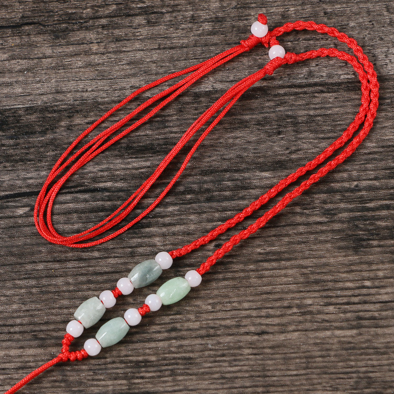 手工编织项链红绳项链绳吊坠绳黄金玉佩水晶玉石挂绳可调节男女