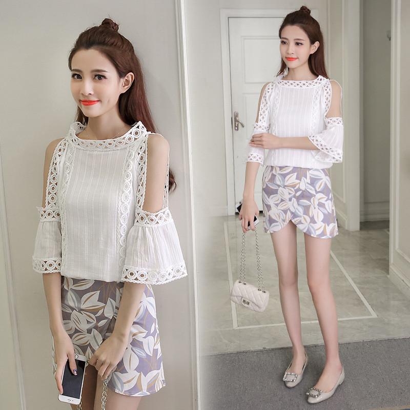 琳朵儿夏季新款女装韩版显瘦两件套夏天学生裙子套装夏装时尚潮