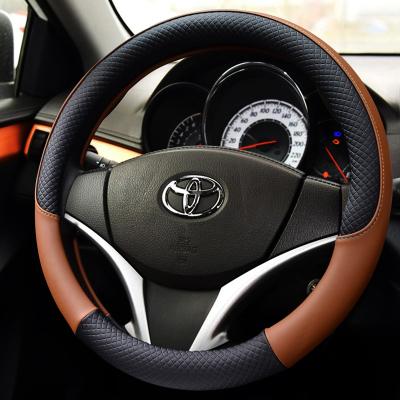 洛瑪 豐田RAV4威馳凱美瑞卡羅拉銳志花冠雷凌專用改裝方向盤套 汽車用品內飾車內裝飾品把套