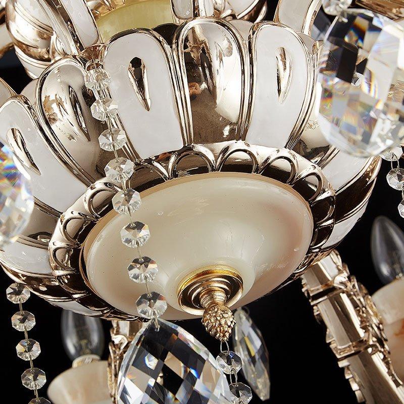 欧式吊灯 客厅led水晶吊灯玉石餐厅卧室蜡烛灯别墅b