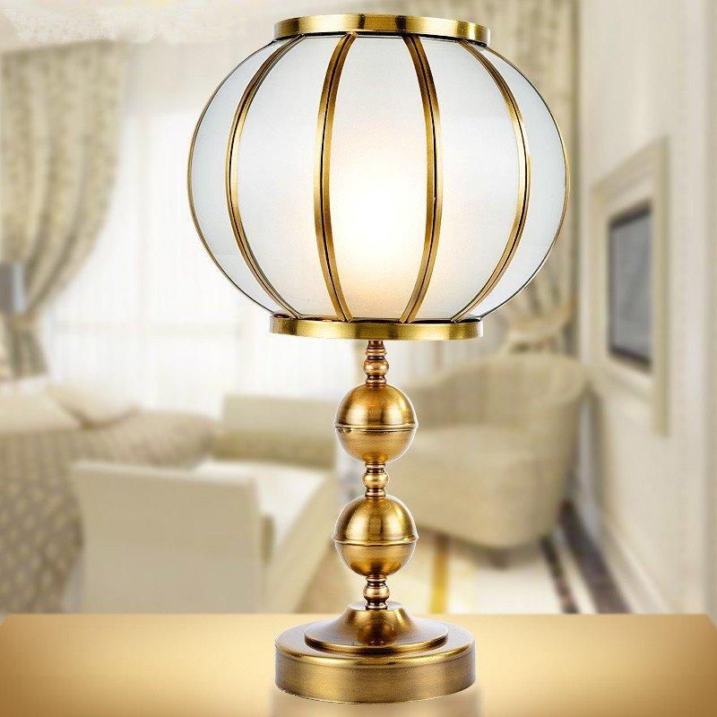 全铜台灯精美现代新欧式客厅书房卧室床头大厅欧式现代简约台灯