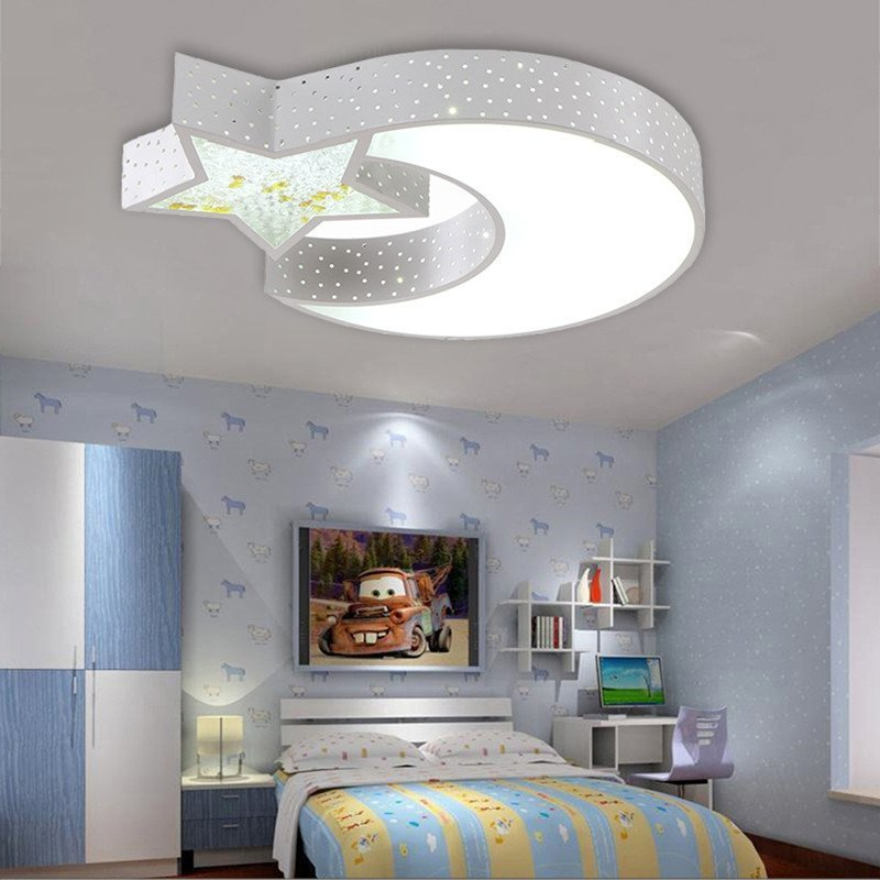 个性星星月亮简约温馨卧室遥控卡通男女孩儿童房间灯