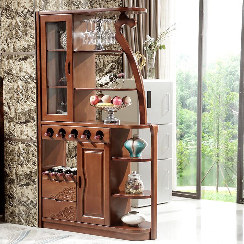 明佳友 实木隔断柜酒柜 中式门客厅玄关柜 屏风柜间厅